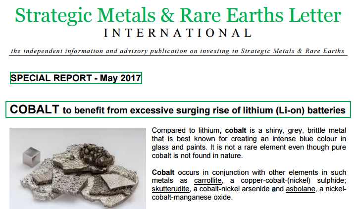 Cobalt Special Report May 2017...
